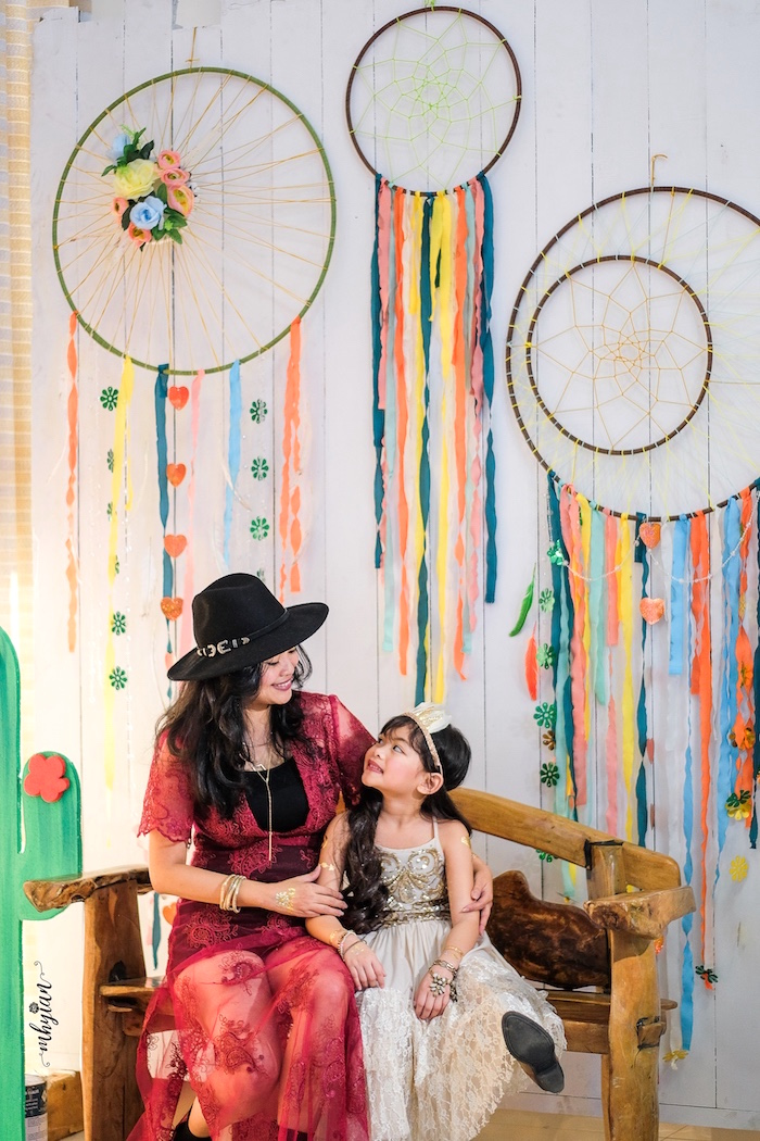 Dreamcatcher Backdrop from a Coachella Inspired Boho Birthday Party on Kara's Party Ideas | KarasPartyIdeas.com (18)
