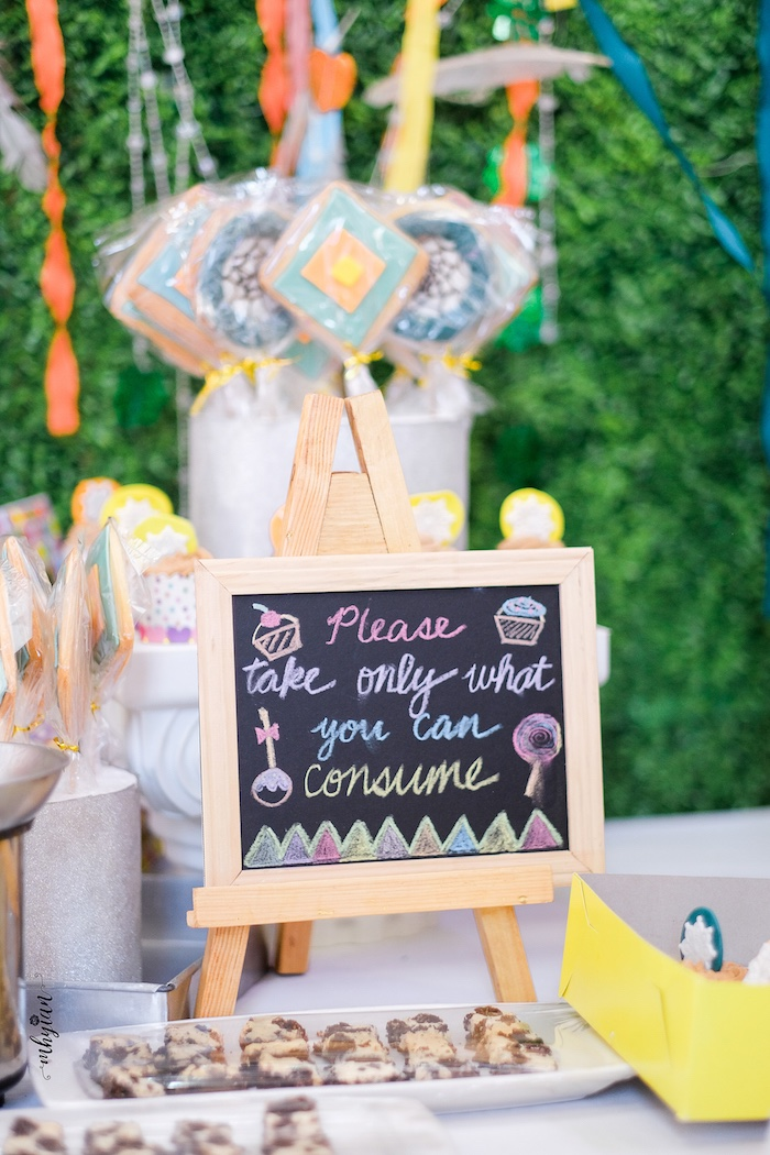 Sweet Table Chalkboard Signage from a Coachella Inspired Boho Birthday Party on Kara's Party Ideas | KarasPartyIdeas.com (16)