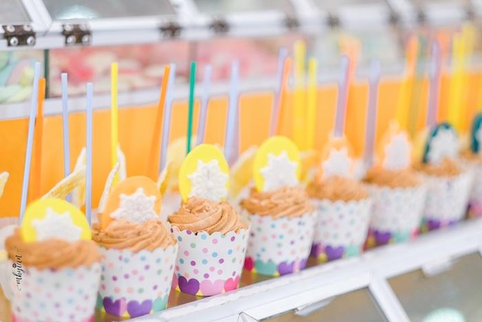 Cupcakes from a Coachella Inspired Boho Birthday Party on Kara's Party Ideas | KarasPartyIdeas.com (14)