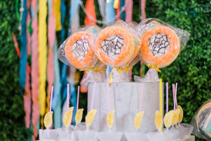 Dreamcatcher Cookie Pops from a Coachella Inspired Boho Birthday Party on Kara's Party Ideas | KarasPartyIdeas.com (13)