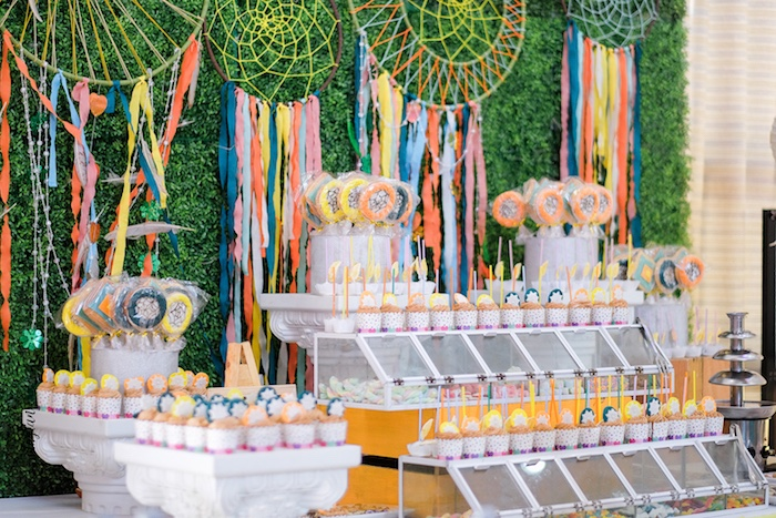 Boho Dessert Table from a Coachella Inspired Boho Birthday Party on Kara's Party Ideas | KarasPartyIdeas.com (12)
