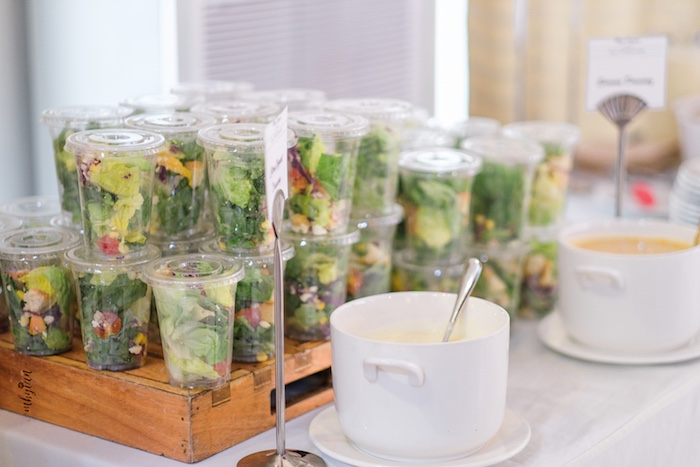 Salad Cups from a Coachella Inspired Boho Birthday Party on Kara's Party Ideas | KarasPartyIdeas.com (10)