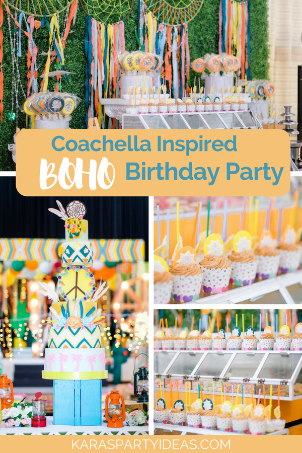 Coachella Inspired Boho Birthday Party via KarasPartyIdeas - KarasPartyIdeas.com