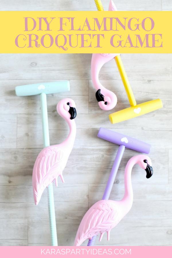 DIY Flamingo Croquet Game via Kara's Party Ideas - KarasPartyIdeas.com