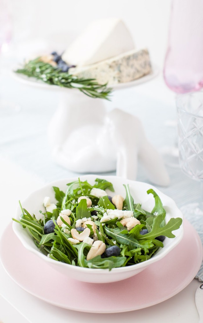 Spring Mix Salad from a DIY Pastel Easter Tablescape on Kara's Party Ideas | KarasPartyIdeas.com (12)