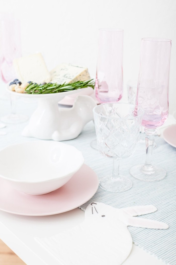 Table Setting from a DIY Pastel Easter Tablescape on Kara's Party Ideas | KarasPartyIdeas.com (8)