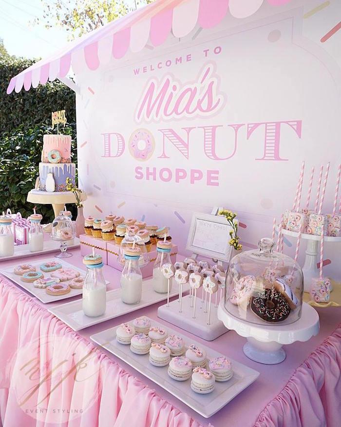 Kara S Party Ideas Donut Shoppe Birthday Party Kara S