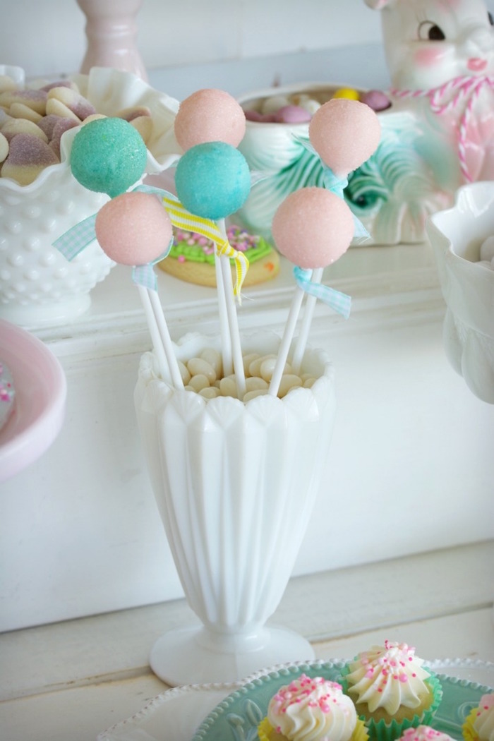 Cake Pops from an Easter Dessert Table on Kara's Party Ideas | KarasPartyIdeas.com (13)