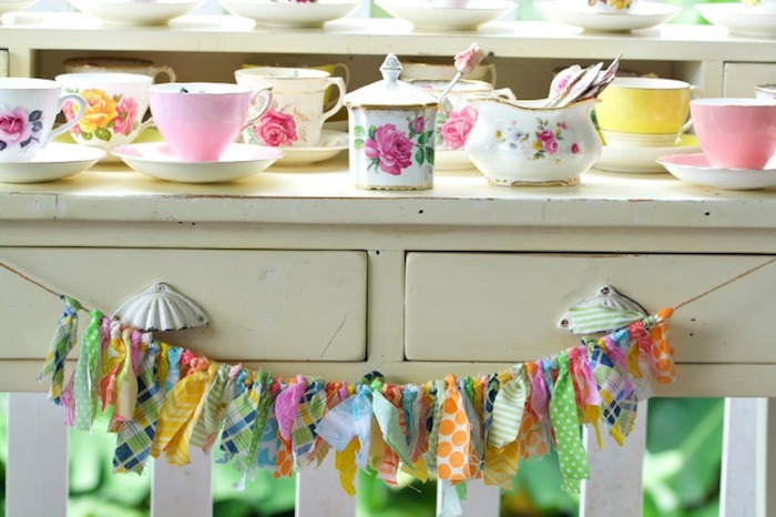 Tea Table from an Easter Dessert Table on Kara's Party Ideas | KarasPartyIdeas.com (9)