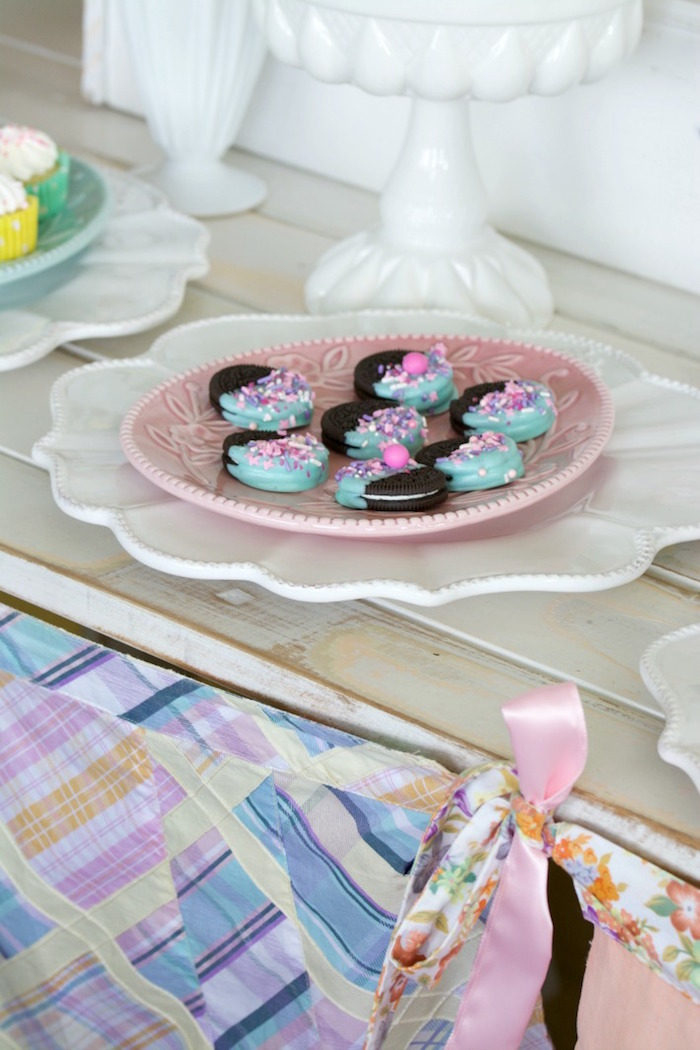Chocolate Dipped Oreos from an Easter Dessert Table on Kara's Party Ideas | KarasPartyIdeas.com (6)