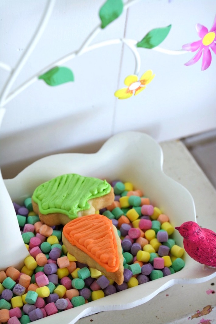 Carrot Sugar Cookie from an Easter Dessert Table on Kara's Party Ideas | KarasPartyIdeas.com (20)