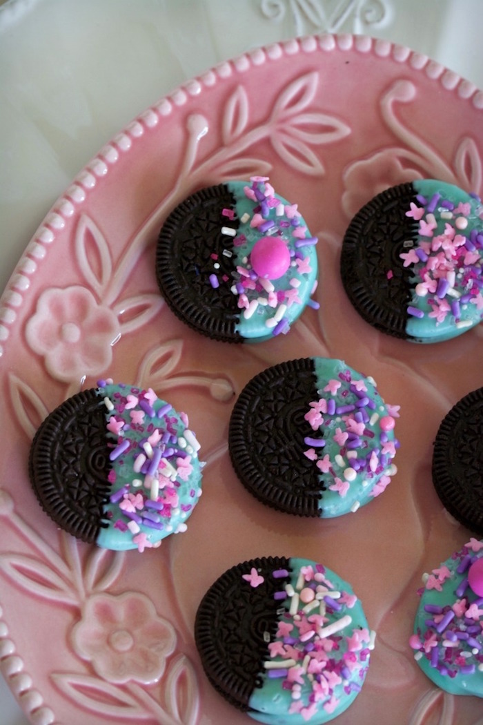 Chocolate Dipped Oreos from an Easter Dessert Table on Kara's Party Ideas | KarasPartyIdeas.com (19)