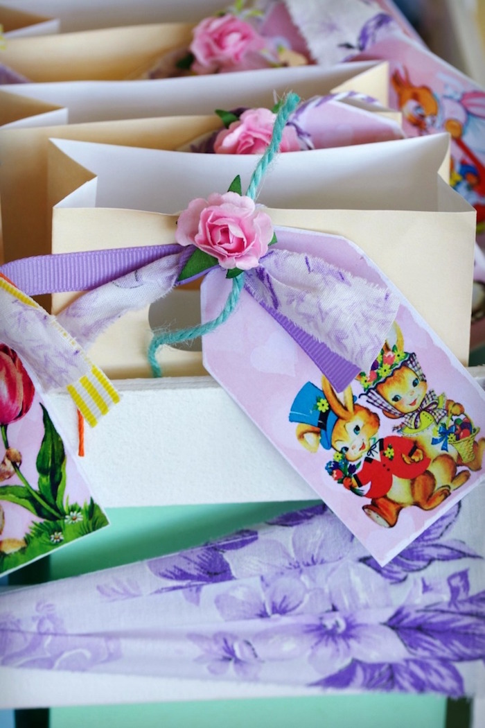 Easter Party Favor Bags from an Easter Dessert Table on Kara's Party Ideas | KarasPartyIdeas.com (15)