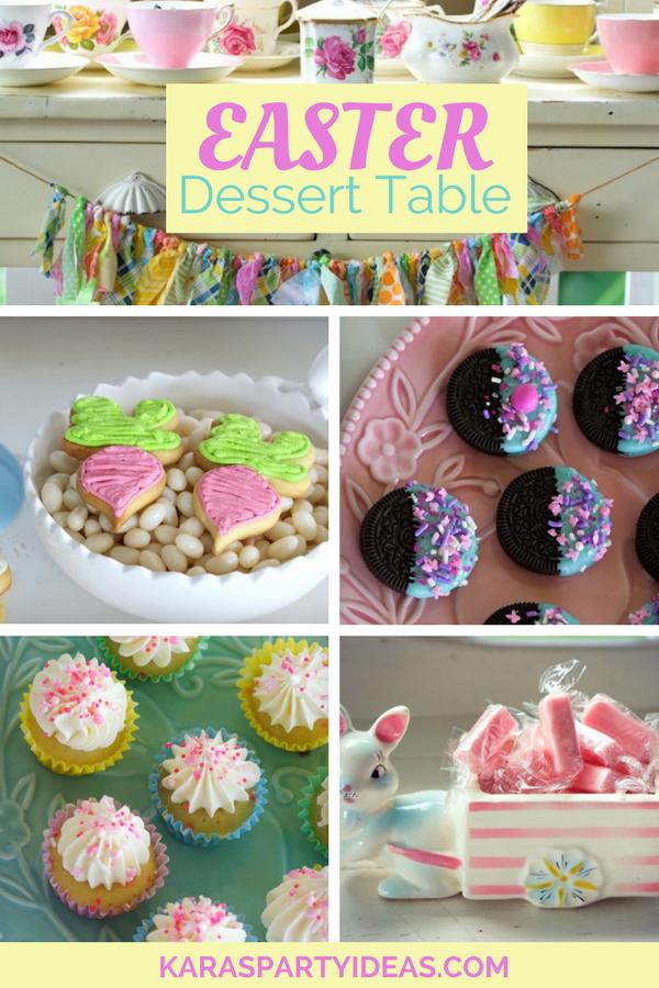 Easter Dessert Table via KarasPartyIdeas - KarasPartyIdeas.com