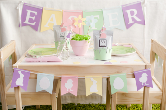 Easter Playdate Dining Table from an Easter Guest Table from an Easter Inspired Spring Playdate Party on Kara's Party Ideas | KarasPartyIdeas.com (24)