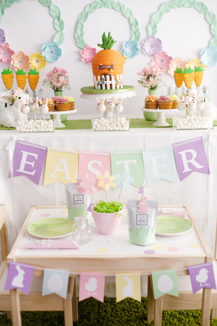 Easter Inspired Spring Playdate Party on Kara's Party Ideas | KarasPartyIdeas.com (23)