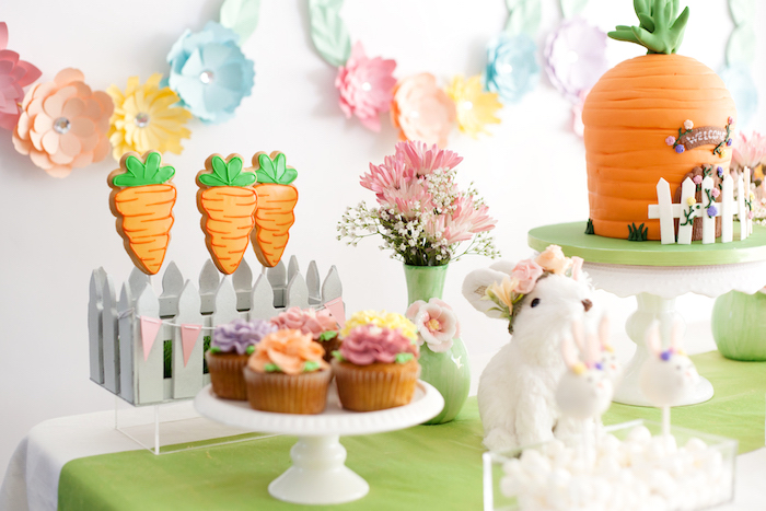 Easter Dessert Table from an Easter Inspired Spring Playdate Party on Kara's Party Ideas | KarasPartyIdeas.com (18)