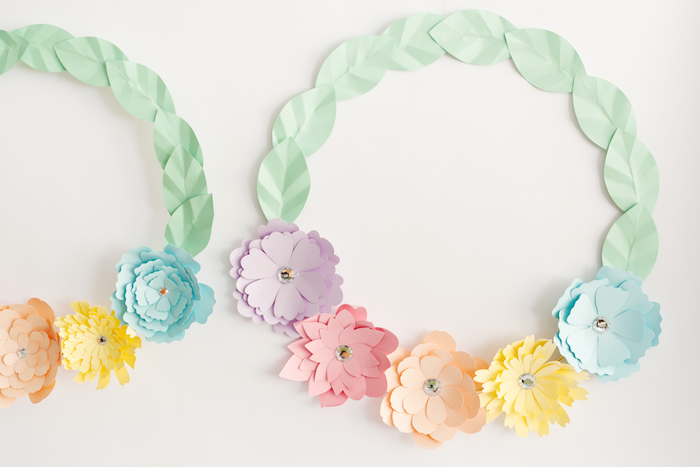 Spring Paper Wreaths from an Easter Inspired Spring Playdate Party on Kara's Party Ideas | KarasPartyIdeas.com (10)