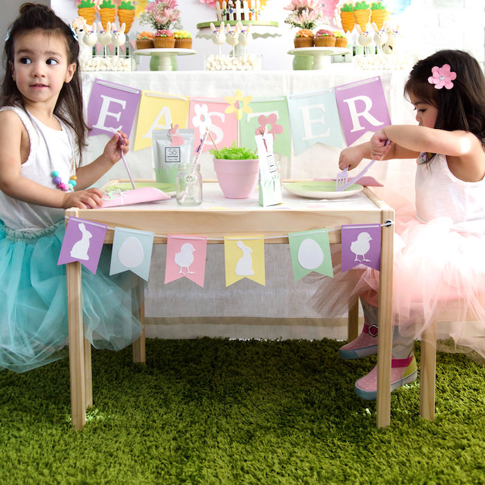 Easter Inspired Spring Playdate Party on Kara's Party Ideas | KarasPartyIdeas.com (7)