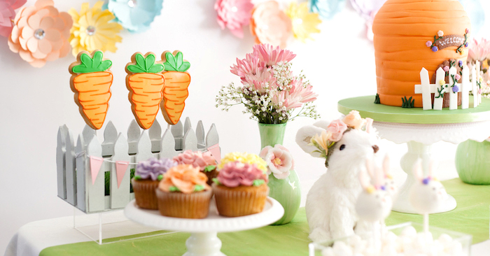 Easter Inspired Spring Playdate Party on Kara's Party Ideas | KarasPartyIdeas.com (3)