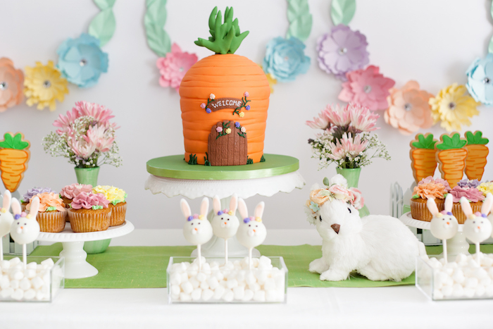 Easter Sweet Table from an Easter Inspired Spring Playdate Party on Kara's Party Ideas | KarasPartyIdeas.com (31)