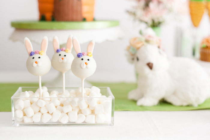 Bunny Cake Pops from an Easter Inspired Spring Playdate Party on Kara's Party Ideas | KarasPartyIdeas.com (30)