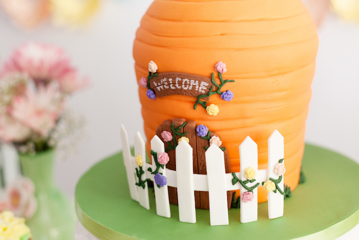 Carrot House Cake from an Easter Inspired Spring Playdate Party on Kara's Party Ideas | KarasPartyIdeas.com (27)