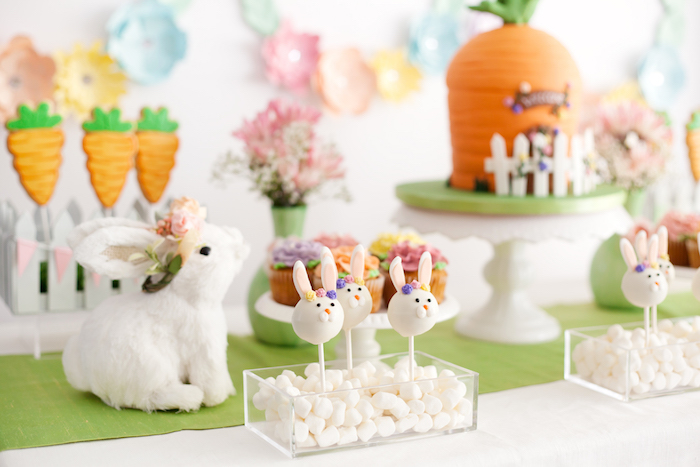 Bunny Cake Pops from an Easter Inspired Spring Playdate Party on Kara's Party Ideas | KarasPartyIdeas.com (26)