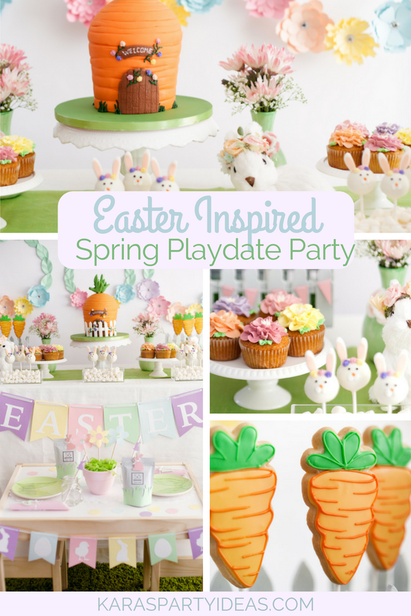 Easter Inspired Spring Playdate Party via Kara's Party Ideas - KarasPartyIdeas.com