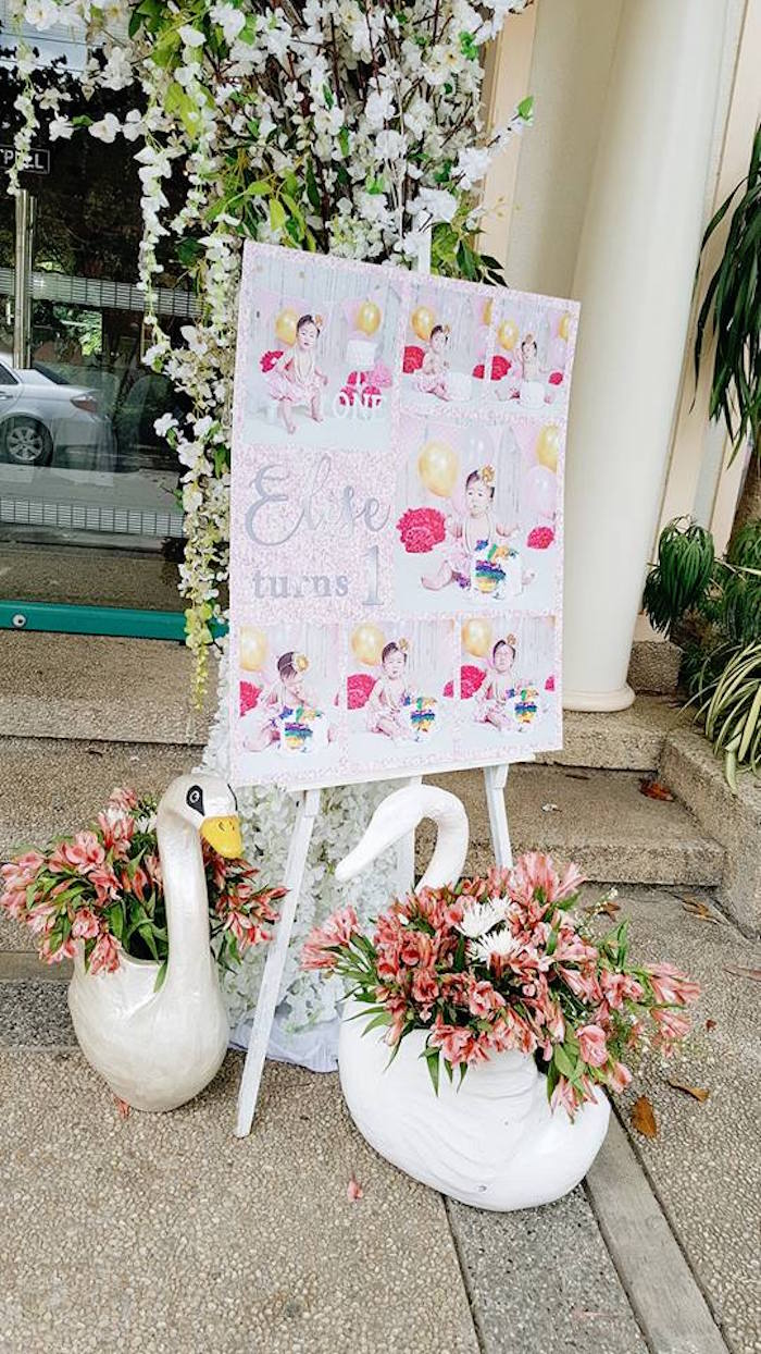 Swan Blooms + Photo Board from an Elegant Swan Soiree on Kara's Party Ideas | KarasPartyIdeas.com (16)