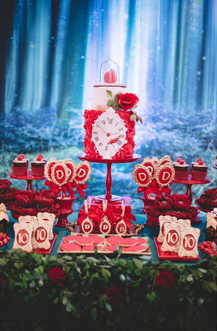 "Enchanted Dessert Table from ABC's ""Once Upon a Time"" Inspired Birthday Party on Kara's Party Ideas 