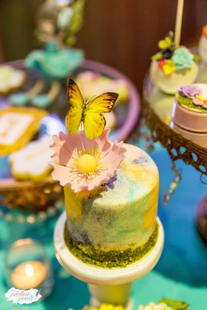 Mini Garden Cake from an Enchanted Fairy Garden Party on Kara's Party Ideas | KarasPartyIdeas.com (14)