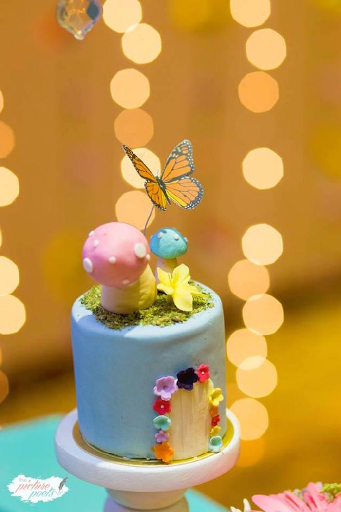 Mini Fairy House Cake from an Enchanted Fairy Garden Party on Kara's Party Ideas | KarasPartyIdeas.com (13)