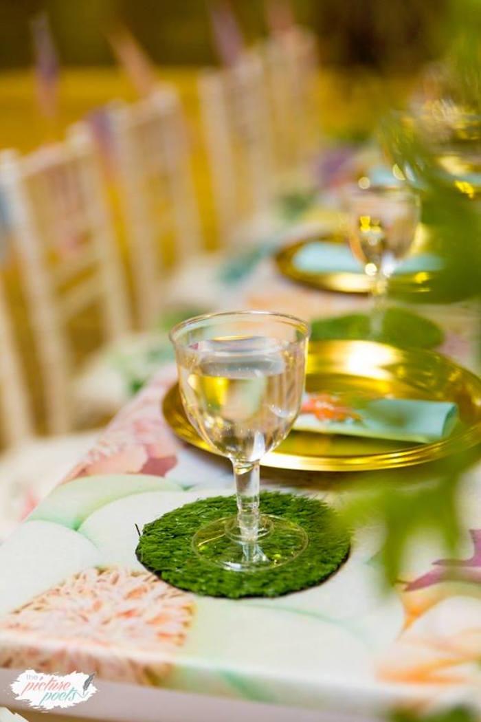 Garden Table Setting from an Enchanted Fairy Garden Party on Kara's Party Ideas | KarasPartyIdeas.com (12)
