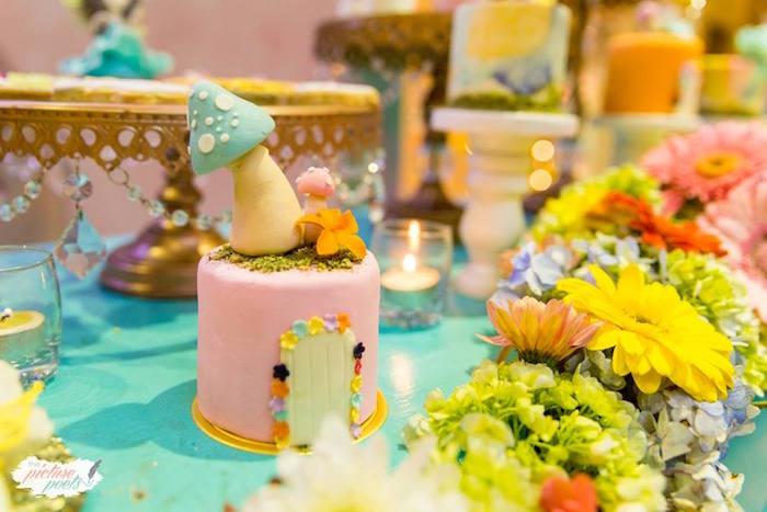 Fairy House Cake from an Enchanted Fairy Garden Party on Kara's Party Ideas | KarasPartyIdeas.com (11)