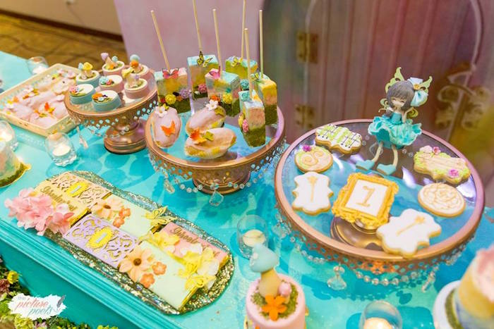 Sweet Tablescape from an Enchanted Fairy Garden Party on Kara's Party Ideas | KarasPartyIdeas.com (6)