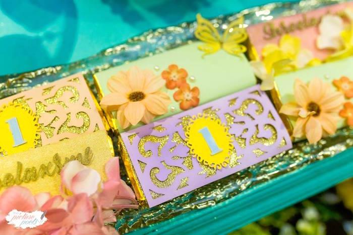 Garden Candy Bars from an Enchanted Fairy Garden Party on Kara's Party Ideas | KarasPartyIdeas.com (24)