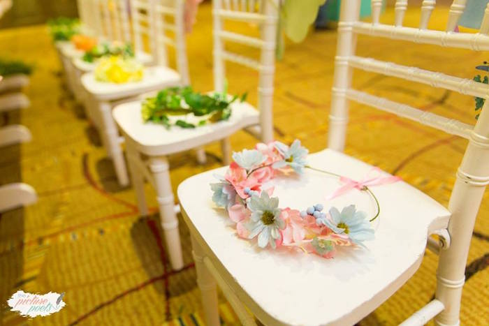 Floral Crowns from an Enchanted Fairy Garden Party on Kara's Party Ideas | KarasPartyIdeas.com (5)