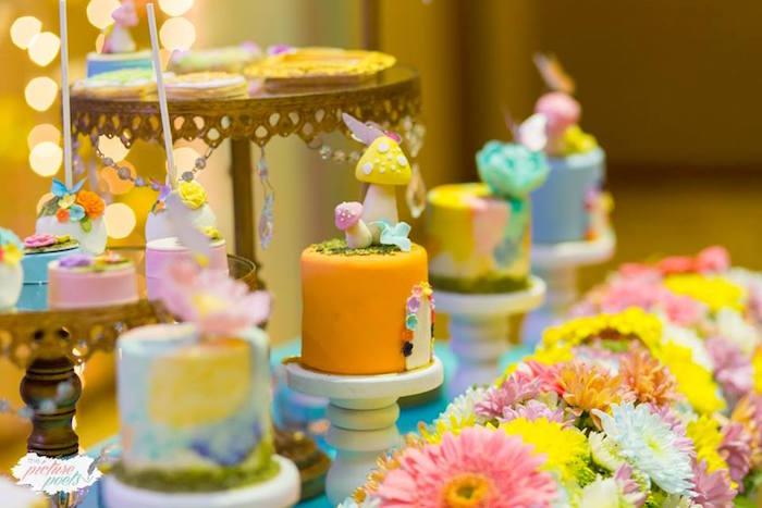 Mini Cakes from an Enchanted Fairy Garden Party on Kara's Party Ideas | KarasPartyIdeas.com (23)