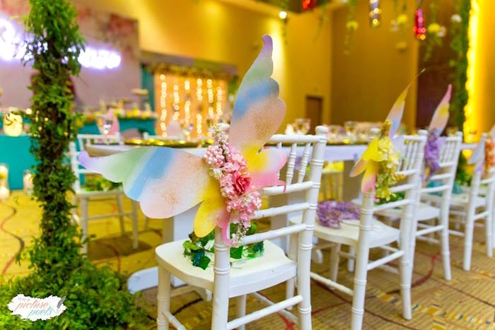 Winged Guest Chairs from an Enchanted Fairy Garden Party on Kara's Party Ideas | KarasPartyIdeas.com (20)