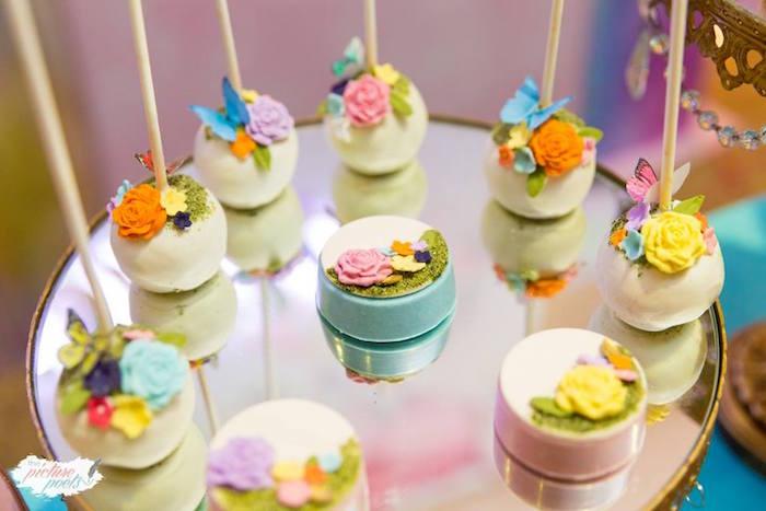 Enchanted Garden Cake Pops + Oreos from an Enchanted Fairy Garden Party on Kara's Party Ideas | KarasPartyIdeas.com (18)