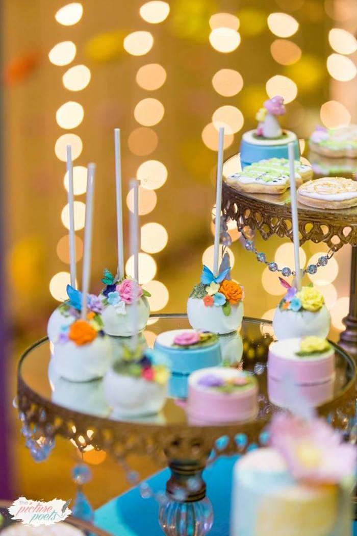 Enchanted Garden Cake Pops + Oreos from an Enchanted Fairy Garden Party on Kara's Party Ideas | KarasPartyIdeas.com (16)