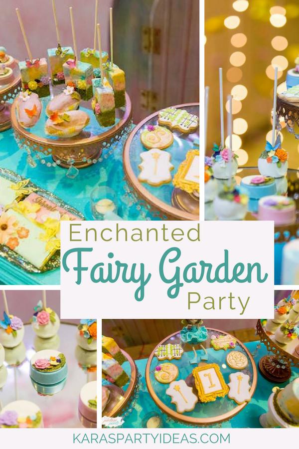 Enchanted Fairy Garden Party via KarasPartyIdeas - KarasPartyIdeas.com