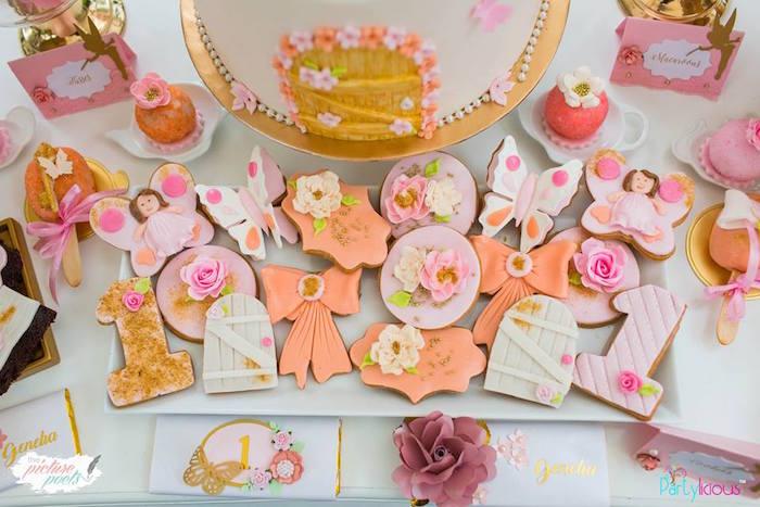 Cookies from a Fairy Garden Birthday Party on Kara's Party Ideas | KarasPartyIdeas.com (20)