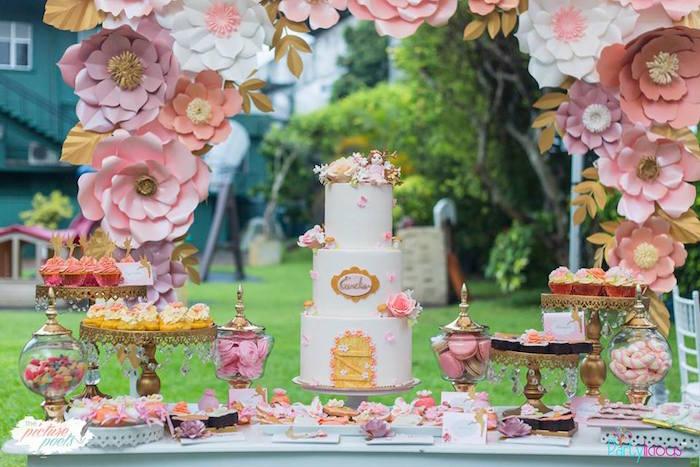 Fairy Garden Birthday Party Dessert Table on Kara's Party Ideas | KarasPartyIdeas.com (33)