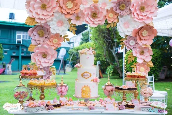 Garden Dessert Table from a Fairy Garden Birthday Party on Kara's Party Ideas | KarasPartyIdeas.com (14)