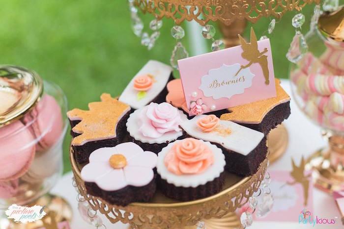 Brownies from a Fairy Garden Birthday Party on Kara's Party Ideas | KarasPartyIdeas.com (12)