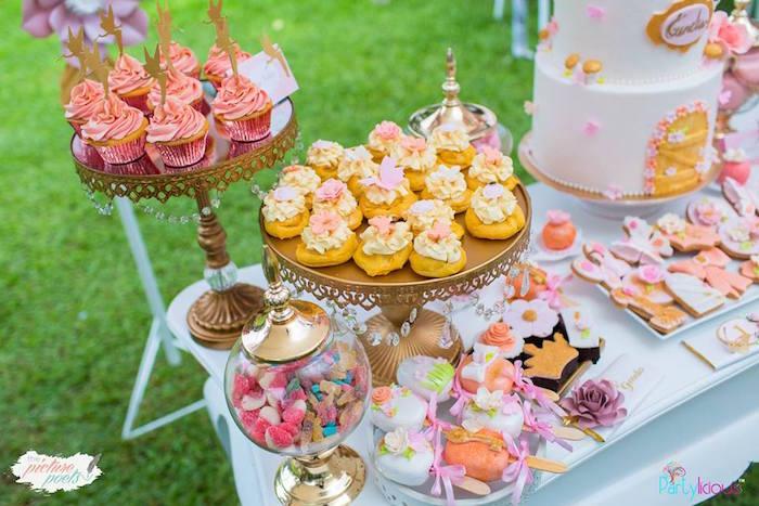 Dessert Table from a Fairy Garden Birthday Party on Kara's Party Ideas | KarasPartyIdeas.com (11)
