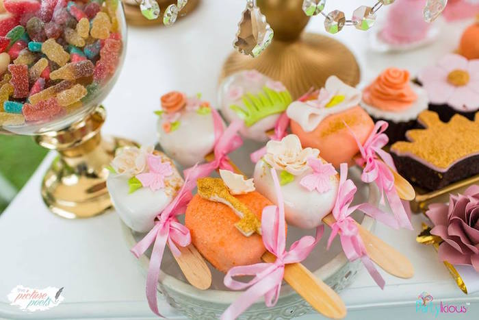 Cake Popsicles from a Fairy Garden Birthday Party on Kara's Party Ideas | KarasPartyIdeas.com (8)