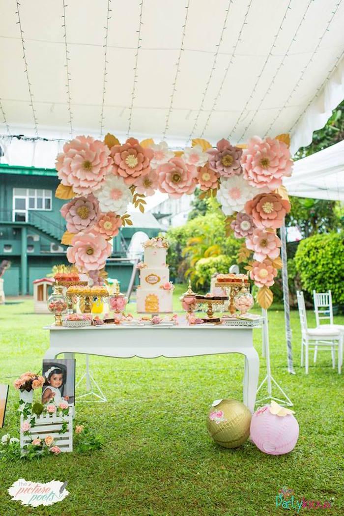 Fairy Garden Dessert Table from a Fairy Birthday Party on Kara's Party Ideas | KarasPartyIdeas.com (7)